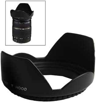 CAOMING 67mm Lens Hood for Cameras Durable Screw Mount Black