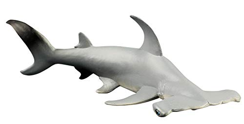 Shark Hammerhead Replica - Funnuf Marine Life Hand-Painted Toy Figurine Model Shark Whales Figurine Collection Realistic Hammerhead Shark Replica, Ideal for Collectors, Ages 3 and Up