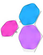 Nanoleaf SHAPES Hexagons Expansion Pack - Smart WiFi LED Panel System w/Music Visualizer, Instant Wall Decoration, Home or Office Use, 16M+ Colors, Low Energy Consumption - White (3 Pack Expansion)
