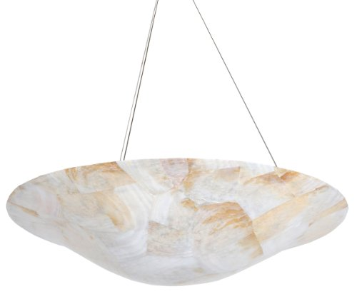 Varaluz 178P04A Big 4-Light Pendant - Reclaimed Kabebe Shell