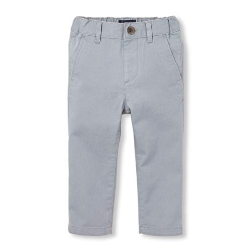 The Children's Place Baby Boys Skinny Chino Pants, FIN Gray 7033, 2T