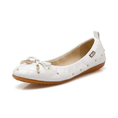41 Grande Shoes Fondo Suela Casual white Planos Doudou Cabeza Zapato 45 Plana Redonda Código Superficial Único AIMENGA Zapatos Blando wZanxqI4O