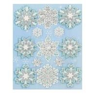 - Snowflake Glitter 3-D Sticker Embellishments From TheCraftyCrocodile