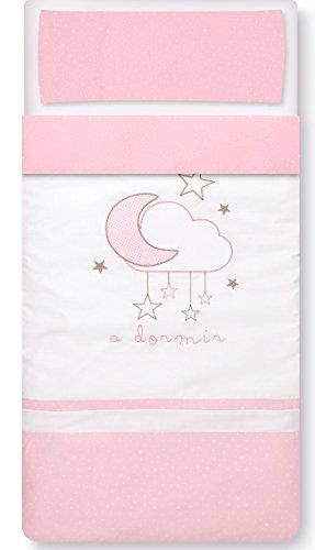 Saco Nórdico Cuna con relleno y Funda de Almohada Nube Rosa, tamaño CUNA 60x120-PETITE STAR: Amazon.es: Bebé