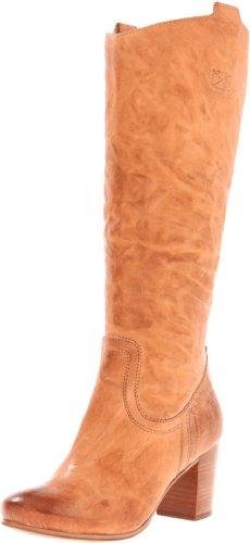 FRYE Women's Carson Mid Heel Tab Knee-High Boot,Camel,9 M US