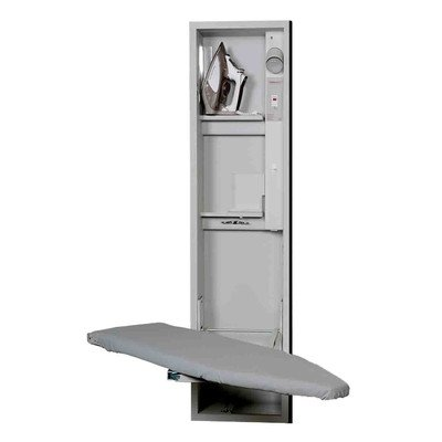Iron-A-Way UD42NDU Ud-42 Universal Design Ironing Center, Cool Grey Interior/Unfinished Exterior by Iron-a-Way