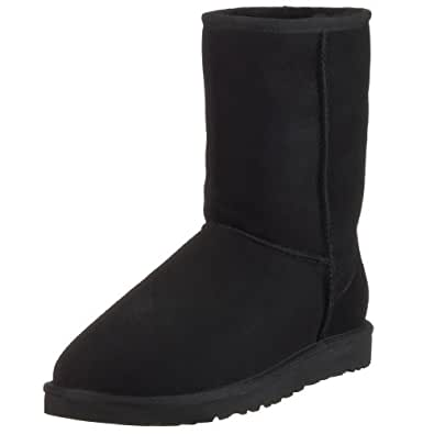 UGG Womens Classic short casual black Suede boot 5.0