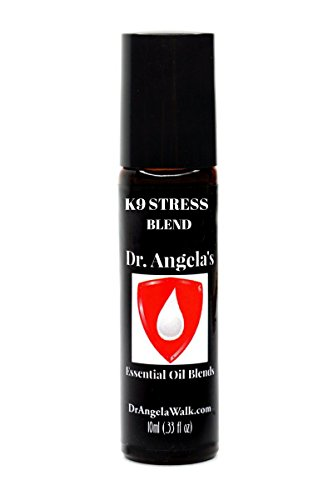 (Dr. Angela Walk K9 Stress Retreat Essential Oil Blend | Therapeutic Grade with Cannabis Oil and Hemp Seed Oil | Natural Dog Anxiety Relief Roll-On Bottle 10ml (.33 fl oz) Dog Calming Aid)