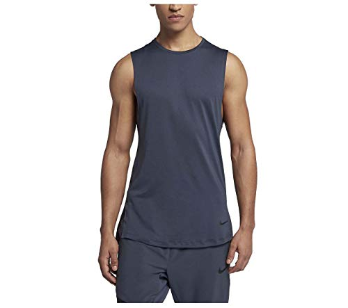Nike Men's Dri-Fit Utility Training Tank-Thunder Blue-Small