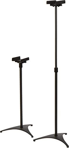 Trademark Innovations Adjustable Speaker Stands for Surround Sound Set of 2
