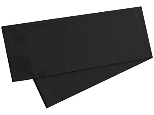 Body Pillowcase, 100% Cotton, 300 Thread Count, 21x60 Body Pregnancy Pillow Cover by Fits 20 x 54, Black