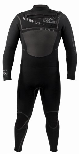 Hyperflex Wetsuits Men's 4.3-mm Amp-3 Front Zip Fullsuit (Blue, Large/Small - Surfing, Windsurfing & Wakeboarding