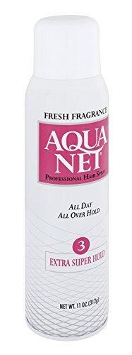 Aqua Net Professional Hair Spray Extra Super Hold 3 Fresh Scent, 11 Oz (Pack of 6) by Aqua Net