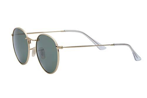 Designer Fashion Sunglasses Reflective Mirror Wire Rimmed Metal Frame Gold Green ()