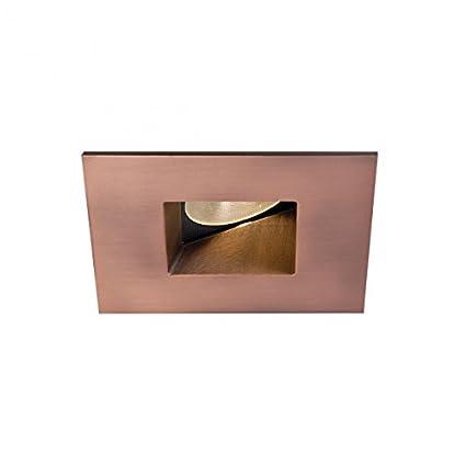 Copper Bronze WAC Lighting HR2LEDT509PS835CB Tesla PRO 2 LED Square 0-30 Degree Adjustable Trim with Light Engine 3500K Spot Beam 15