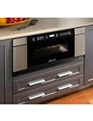 Dacor Discovery MMDV30S 1.0 cu. ft. Microwave in-a-Drawer Microwave Drawer -Black w/ Stainless Steel Trim