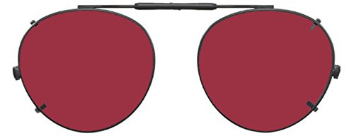 Visionaries Polarized Clip on Sunglasses - Round - Gold Frame - 49 x 43 - Non Glasses Vs Polarized Polarized