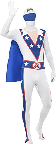 Evel Knievel Adult Costumes (Evel Knievel Second Skin Costume Chest 42