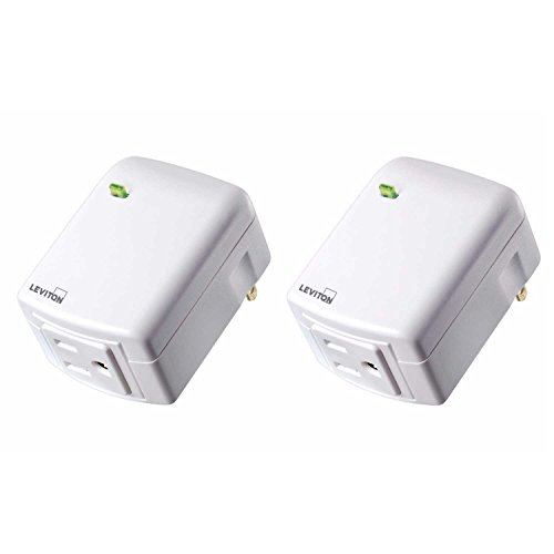 Leviton DZPA1-2BW Decora Smart Plug-in Outlet with Z-Wave Plus Technology (2 Pack)
