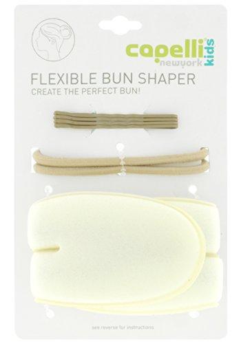 Bun Shaper Set With 1 Flexible Bun Shaper, 2 Elastic Ponies, 4 Bobby Pins Ivory No Sz ()