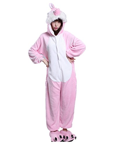 Japsom Pink Easter Bunny Rabbit One-Piece Kigurumi Pajamas Costume Cosplay S