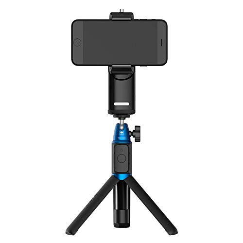 SIRUI VK-2K Handheld Gimbal Stabilizer and Selfie Stick Black, Compatible with Most Smartphones, with Fill Light, Mirror and Bluetooth Connecting