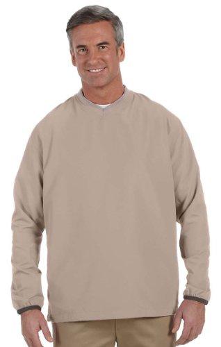 V-neck Wind Jacket - Ashworth Men's V-Neck Wind Jacket, STONE, XXX-Large