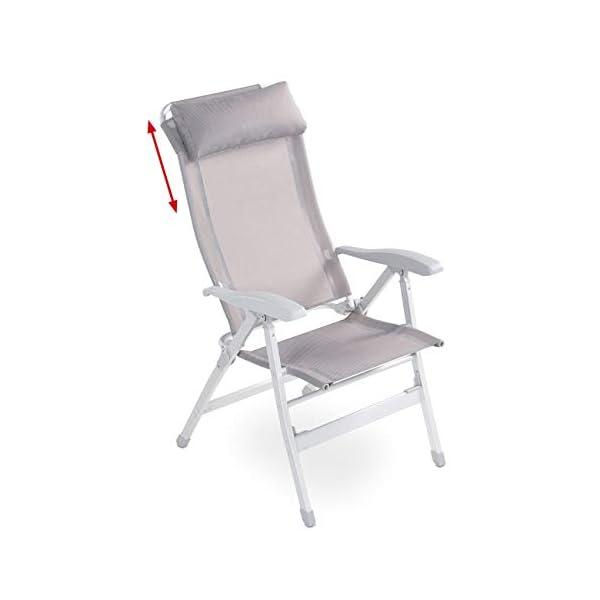 312E8m974zL maxVitalis Relax Liegestuhl Klappbar Campingstuhl/Campingliege + Fußablage (verstellbar) 200 Kg + Schutzhülle…