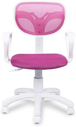 Adec - Touch, Silla de Escritorio giratoria, Silla Juvenil de Oficina, Color Rosa, Medidas: 54 cm (Ancho) x 54 cm (Fondo) x 93-105 cm (Alto) 23