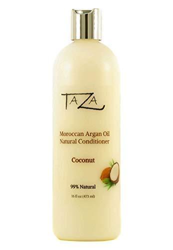 Premium Taza Natural Moroccan Argan Oil Coconut Conditioner, 16 fl oz (473 ml) ♦ For Healthy, Smooth, Silky Hair ♦ Contains: Moroccan Argan Oil, Broccoli Seed Oil, Pro Vitamin B5, Hydrolyzed Soy Prote