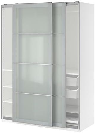 Ikea Armario, Blanco, Cristal Esmerilado Sekken 38386.8268.216: Amazon.es: Juguetes y juegos