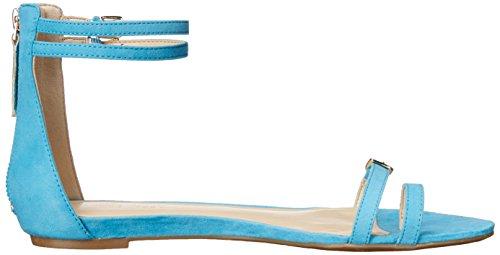 Nine West Onque tela del vestido de la sandalia Turquoise