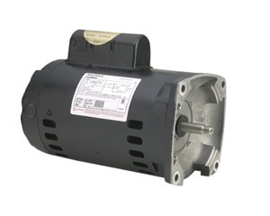 A.O. Smith B2853 1 HP, 3450 RPM, 1 Speed, 230/115 Volts, 6.6/13.2 Amps, 1.25 Service Factor, 56Y Frame, PSC, ODP Enclosure, Square Flange Pool Motor ()