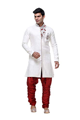 Wear Indian Traditional Party 11 Of Indo Cream 2 Mens Set Wedding Ethnic Western wEf0YqYX