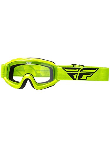 Fly Racing Men's Focus Goggle (Hi-Vis W/Clear Lens, One Size)