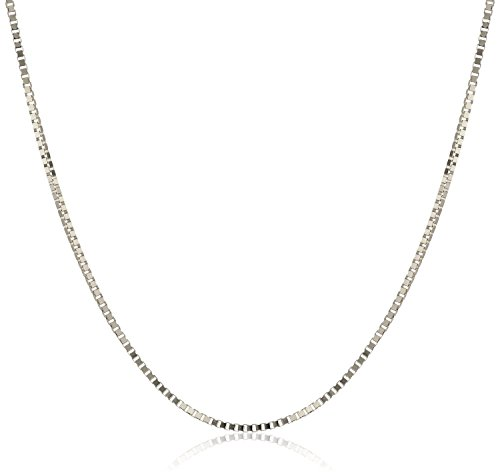 Sterling Silver Neck Chain (925 Sterling Silver 1.5MM Box Chain Italian Necklace- Sturdy and Strong Lobster Claps-18