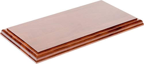 Plymor Brand Solid Walnut Rectangular Wood Display Base with Ogee Edge, .75