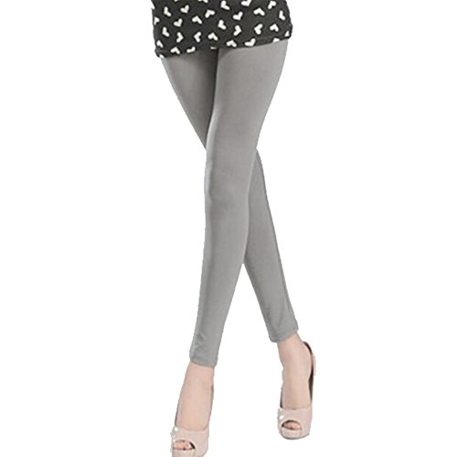 FANCY PUMPKIN 9/10 Sun Protection Golf Pants Cool Ice Silk Stocking Sport Leggings-Gray/Size L