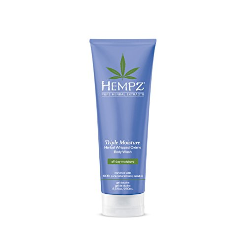 Hempz Triple Moisture Herbal Whipped Creme Body Wash, 8.5 Fluid Ounce