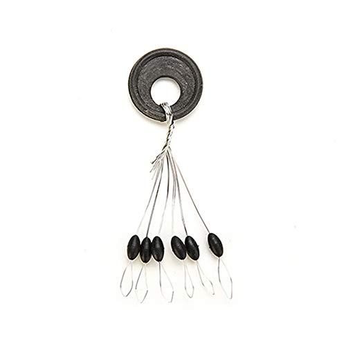(ruiycltd 100 Pcs Fishing Bobber Stopper Line Olive Shape Space Beans Fishing Accessory - S)