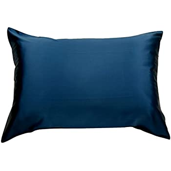 Amazon Com Set Of Two Navy Blue 100 Mulberry Silk