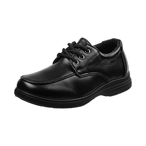 Josmo Boys Comfort School Uniform Shoes (Toddler/Little Kid/Big Kid) (5 M US Big Kid, Black-Lace ()