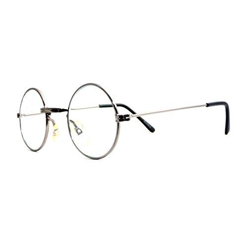 JOHN LENNON Vintage Retro Round Metal Frame Clear Lens Eye Glasses - Potter Eyeglass Frames Harry