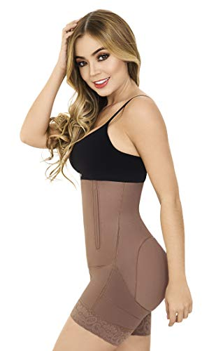 Fajas Moldeadora Colombianas Bodysuit Levanta Cola Buttock Lift Body Shaper Powernet Postpartum Girdle Shapewear