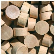 Cherry Wood Plugs End - WIDGETCO 7/16