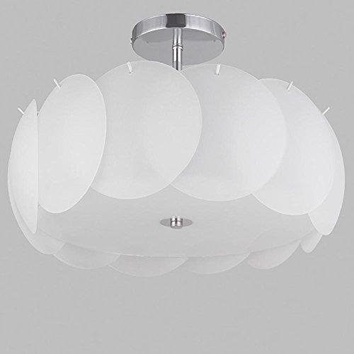 QAZSE Round Petals Bedroom Glass Ceiling Light Warm Romantic Wedding Room Led Lighting