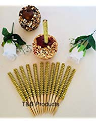BLING GOLD 12 pc Candy Apple Sticks USPS