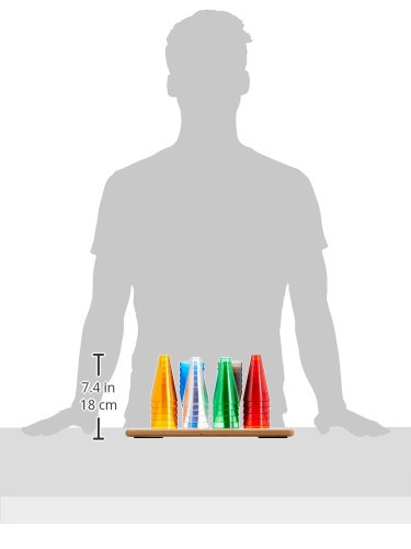 Rolyan Stacking Cones and Wooden Base, Set of 30 Activity Cones with Acrylic Colors and Base for Exercises for Occupational Therapy, Physical Therapy, Perception, and Coordination by Rolyan (Image #4)