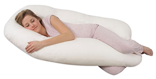 Leachco Back 'N Belly Contoured Body Pillow, Ivory (Pregnant Belly)