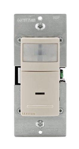 Leviton IPS02-1LT 150-Watt LED/CFL, 300-Watt Incandescent/Halogen Universal Motion Sensor, Light Almond